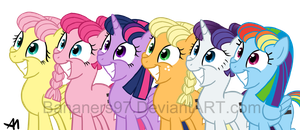Equal Mane Six by Bananers97