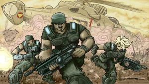 Gears of War Entry 1c by artistjerrybennett