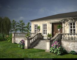 Free Stock Background:  Regency Cottage by ArtReferenceSource