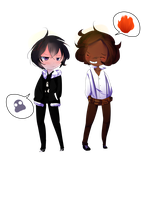 Nico Di Angelo and Leo Valdez by GalacticLunar