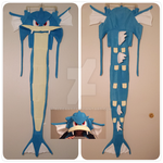 Gyarados Scoodie Blue Pokemon Fanmade by Aleeart7