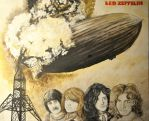 Led Zeppelin Canvas by wholelottajackets