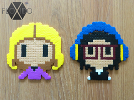 Fergie and Taboo - Hama and Perler beads by floxido