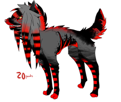 Scene Dog Point Adoptable SOLD by Lokymew