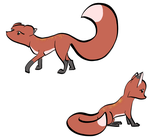 Foxes in Ink, Colored by Foxette-Faynge