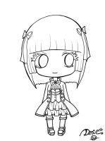 Gothic Lolita Chibi - Outlines by DeadPeppermint