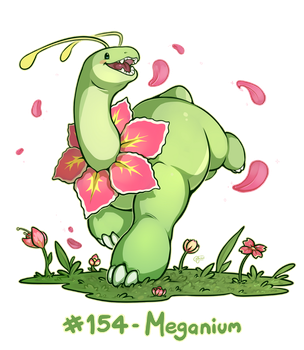 Pokemon #154 - Meganium by oddsocket