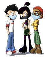 Danny, Sam, Tucker with Masks by KicsterAsh