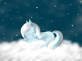 Snowdrop sleeping on a cloud by LuGiAdriel14