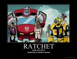 Ratchet demotivational by blueskysummer