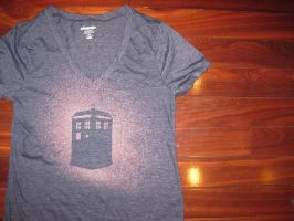 Doctor Who Tardis Tee by waterbender-chan