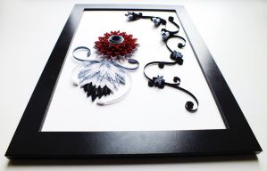 quilling picture of Passion by othewhitewizard