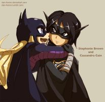 Batgirl And Black Bat by dan-heron
