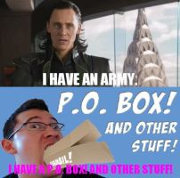 Loki VS. Markiplier:  I Have A P.O. Box by WorldwideImage