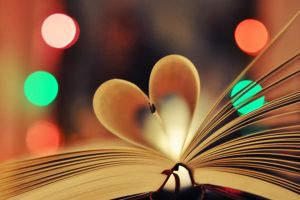 bokeh book heart by Holunder