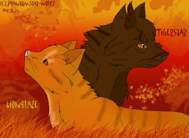 Lion and Tiger by Phantomstar-wolf7