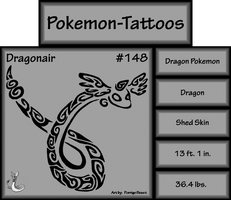 Tribal Dragonair Pokemon-Tattoos by PorridgeBeast