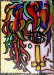 Cross Coloured Original ACEO by Timmytushoes