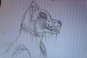 Zombie Wolf / Dog by Wolfphie