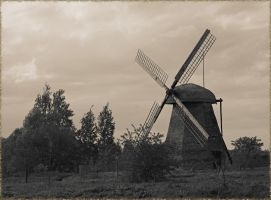 Free download full size: landscape with a mill by Neutrale-Erde