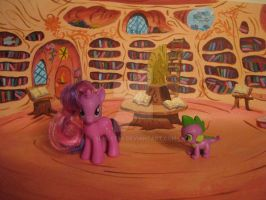 Twilight's Library backdrop - interior by Sunset80