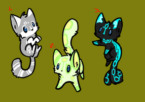 Kitten adoptables batch 1(CLOSED) by Apriifox