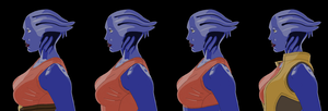 Mass Effect - Liara at mid-age (Multiple versions) by hososoki
