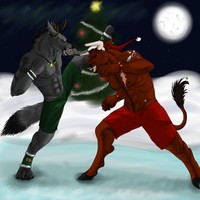Christmas Showdown by GlowyDaBstrd