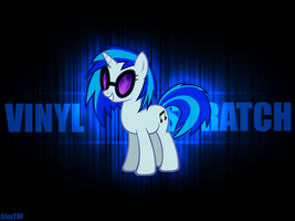 Vinyl Scratch Wallpaper 2 by AlexTHF