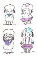 kawaii sheep by selene-bunny