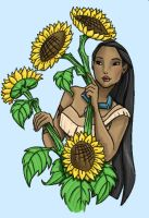 Grown-Up Coloring Book: Pocahontas by kuabci