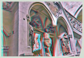 Altar Entrance Of The Cathedral of Naumburg HDR 3D by zour