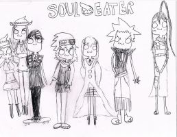 Soul eater group chibis by zendevil