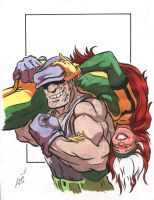 Rogue and The Goon by NGoff