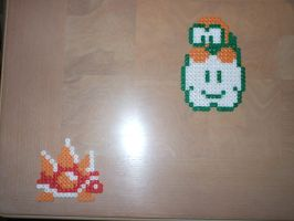 Perler Lakitu and Spiny by NES--still-the-best