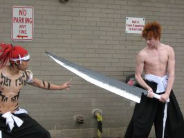 Shirtless - Renji vs. Ichigo by dunkler-adlig