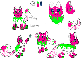 Bubbles ref sheet by AwesomePaw