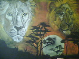 Sage Lions by MikkiC