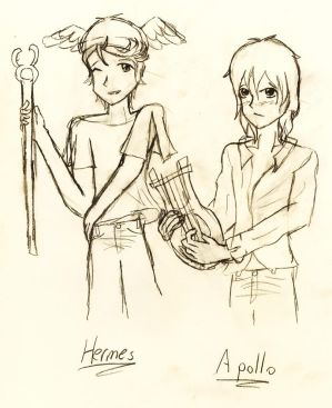 Hermes and Apollo