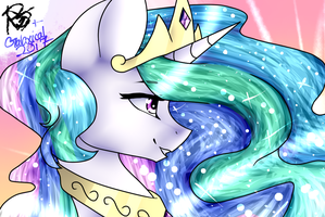 princess celestia [COLLAB] by Galaxy-Spirals