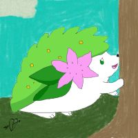Tap the tree. (Little Shaymin Doodle) by Fatedtotheend