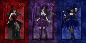 Gothic Dolls Series Request by ImaginedMoments
