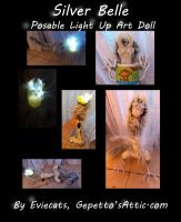 Silver Belle Light Up Posable Art Doll by Eviecats
