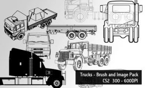 Trucks - Brush and Image Pack by screentones