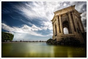 Montpellier City Peyrou V by Graphylight