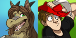 Icon Commissions - Metonymy + Evad by AdriOfTheDead