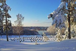 S:t Botvids cemetary in Wintertime by attomanen