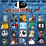 20 Personal Favorite Text/Read Characters Movesets by StevenStar777