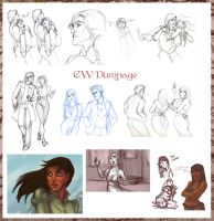 Crosswind Sketchdump 1 by travelingpantscg