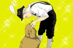 Germany dressed with his dog by Inko-Dokotei